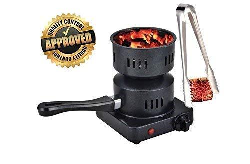 Boosey Electric Coal Charcoal Starter Burner + Free Tongs! - Hookah, Shisha, Nargila, BBQ, Fire Starter, Coal ()