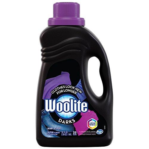 Woolite DARKS Liquid Laundry Detergent, 50 fl oz Bottle, With Color Renew, HE & Regular Washers - Bleach Liquid Laundry Detergent