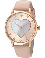 kate spade new york Womens Metro Quartz Stainless Steel and Leather Casual Watch, Color:Brown (Model: KSW1254)