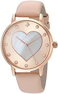 kate spade new york Women's 'Metro' Quartz Stainless Steel and Leather Casual Watch, Color:Brown (Model: KSW1254)