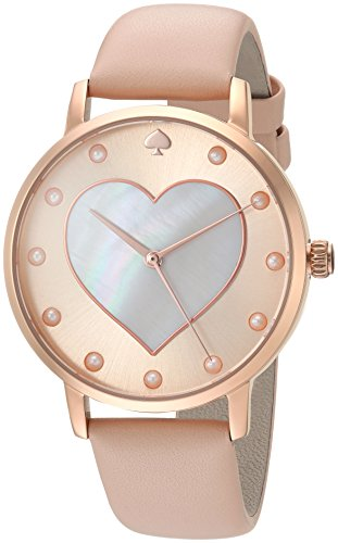 Pearl Of Womans Watch Mother (kate spade new york Women's 'Metro' Quartz Stainless Steel and Leather Casual Watch, Color:Brown (Model: KSW1254))