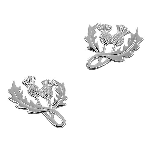 (Sterling Silver Scottish Thistle Silver Earrings )