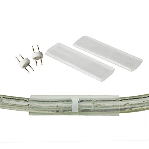 (2 Pack) - 3/8 in. - Rope Light Invisible Splice Connector - 2 Wire - FlexTec M91 (Light Connectors Rope)