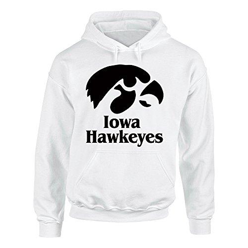 Iowa Hawkeyes Velveteen Heavy Blend Pullover Adult Unisex Hoodie Sweatshirt Black/Royal Blue/Red/Grey/White