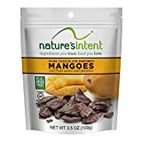 Nature's Intent Dark Chocolate Covered Dried Fruit – Mangoes 3.5 oz. (4 pack) Gluten Free, Whole Food Snacks