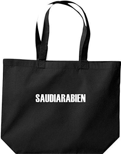 große Bolsa de compra, Arabia Saudita Land PAÍSES Fútbol negro