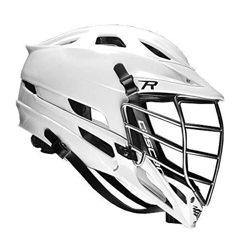 Cascade R Lacrosse Helmet (White Shell/Chrome Facemask)