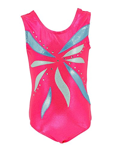 Girls Gymnastics Leotards Sleeveless Biketard Dance Uniforms Athletic Leotard for Toddlers