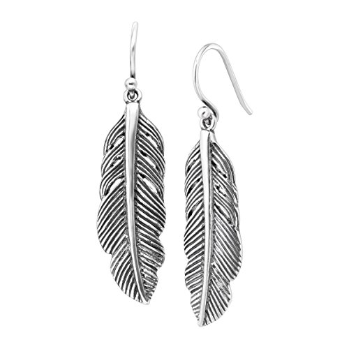 Silpada Etched Feather Sterling Earrings product image