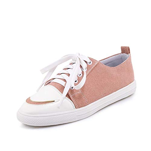 Yellow Round Pink Women's Green Shoes Spring Walking Shoes Summer Flat Cycling Sneakers ZHZNVX Synthetic Comfort Shoes Toe Pink amp; Heel RUqfCan
