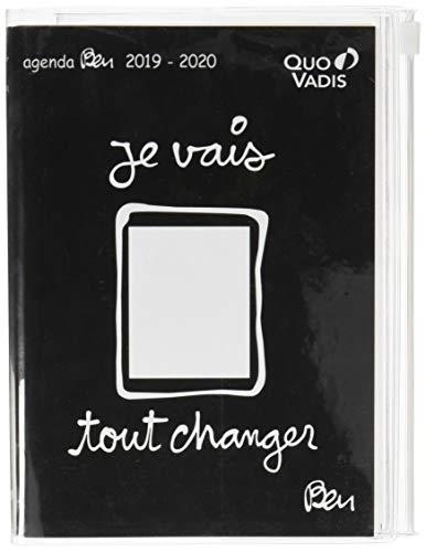 Quo Vadis Ben TEXTAGENDA 2019-2020 Daily Academic Diary with Zip Pocket 12 x 17 cm