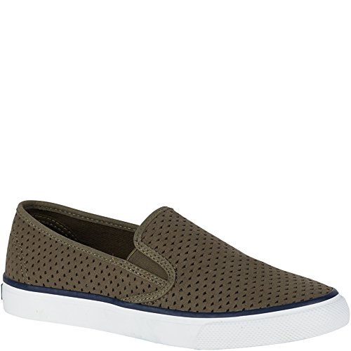 Sperry Top-sider Donna Mare Perf Slip-on Mocassino Oliva Scuro