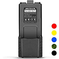 NKTECH BL-5L Extended 3800mAh 7.4V Li-ion Battery For BaoFeng Pofung UV-5R V2 DM-5R UV-5RA BF-F8HP BF-F9 V2+ UV-5R5 UV-5RE PLUS UV-5RTP Two Way Radio (2x 2100mAh Li-ion Polymer Batteries)