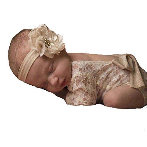 Udobuy Super Cute Soft Infant Baby Girl Bowknot Romper Sunsuit Bodysuit Newborn Photo Props