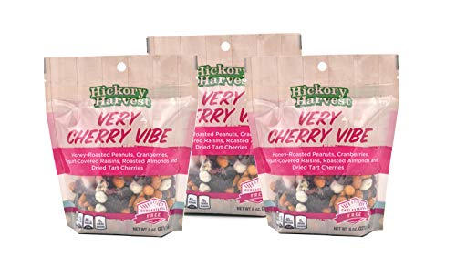 (Snack Bags, Mixed Nut and Trail Mix, Dried Fruit, Yogurt, Great Unique Flavors for a Healthy Treat - Very Cherry Vibe - 3 Pack)