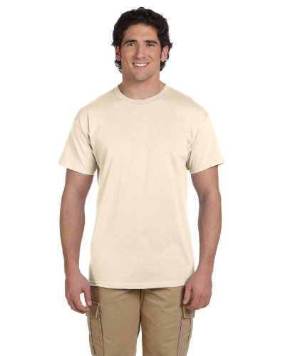 Fruit of the Loom 5 Oz, 100% Heavy Cotton HD T-Shirt, Medium, Natural