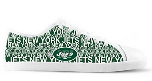 Jets Logo Ladys Sklisikker Lerret Sko Jets Lerret Shoes03