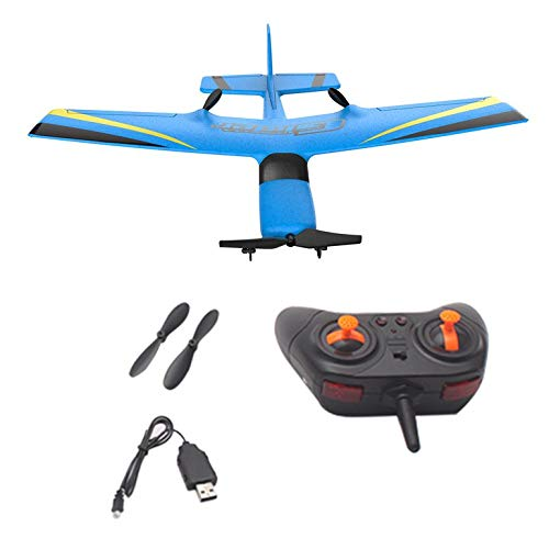 Lovelystar Z50 2.4G 2CH 350mm Micro Wingspan Remote Control RC Glider Airplane Plane Fixed Wing EPP Drone with Built-in Gyro for Kids