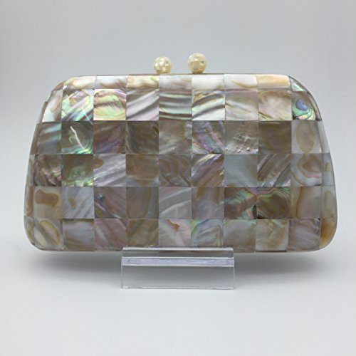Clutch Bag with Mother of Pearl by RecasArtizan