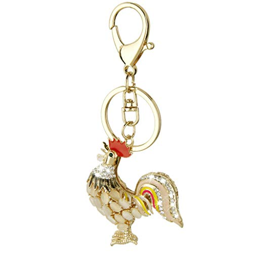 NATFUR Diamante Rhinestone Cock Rooster Pendent Charm Purse Bag Key Ring Key Chain Novelty Cute Holder Perfect Elegant Novelty Great Beauteous Goodly (Oregon Furniture Phoenix)