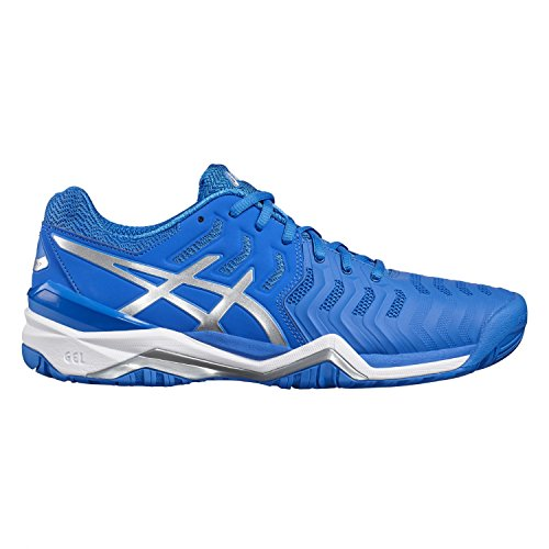 Asics Gel-Resolution 7 Gs, Zapatillas de Tenis Unisex Bebé Azul (Directoire Blue/silver/white)