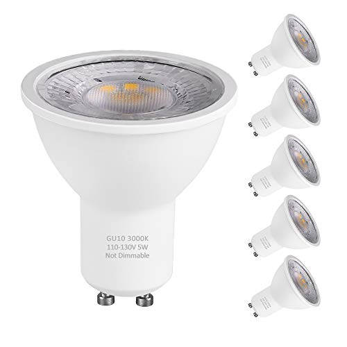 Lights Blower Halogen - KINDEEP GU10 LED Bulbs, 40W Halogen Bulbs Equivalent, 5W 400lm LED Light Bulbs, Warm White Non-Dimmable, 120° Beam Angle, MR16 LED Bulbs, 6 Packs