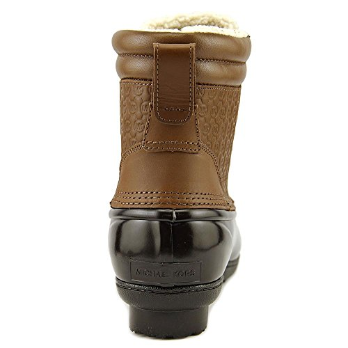 MICHAEL Michael Kors Womens Easton Bootie Leather Closed Toe Ankle Rainboots Caramel R3prSGgS
