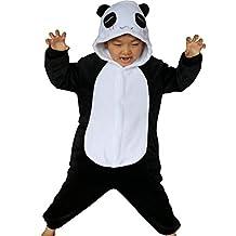 iSZEYU Panda Kids Onesie Pajamas Sleepsuit Cosplay Halloween Christmas Costume