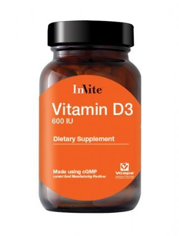 Vitamin D3-600IU 60 tablets by InVite Health