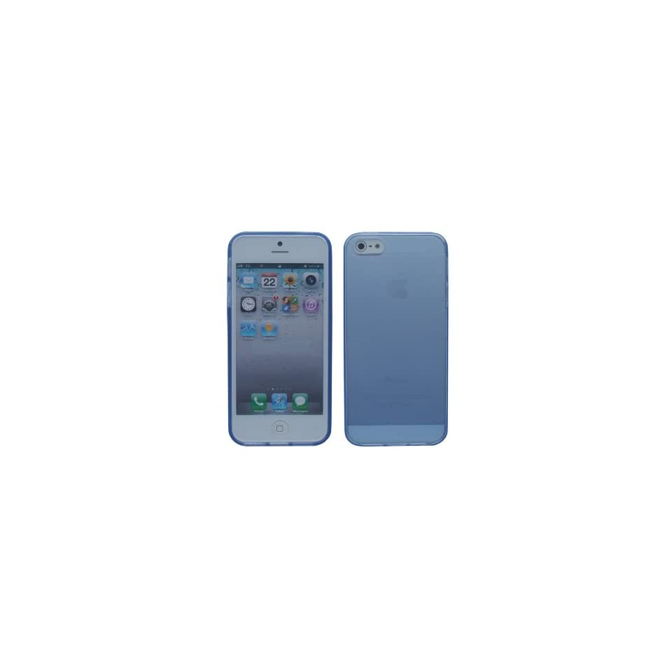 iShoppingdeals   for Apple iPhone 5 5S TPU Rubberized Cover Case Skin, Blue