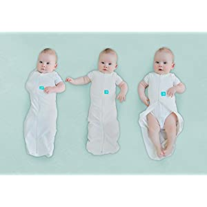 ergoPouch 0.2 tog Cocoon Swaddle Bag- 2 in 1 Swaddle Transitions into arms Free Wearable Blanket Sleeping Bag. 2 Way Zipper for Easy Diaper Changes (Blush Leaf, 3-12 Months)