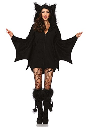 Leg Avenue Women's Cozy Bat Costume, Black, Medium (Womens Costumes)