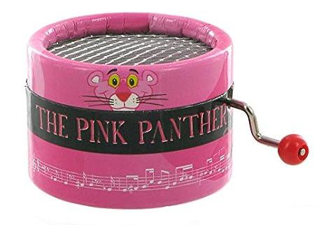 Caja de música de manivela de cartón adornado - La pantera rosa (Henry Mancini)