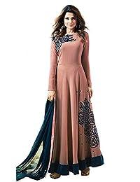 VintFlea Indian Women's Designer Georgette Anarkali Semi Sticthed Dress Material