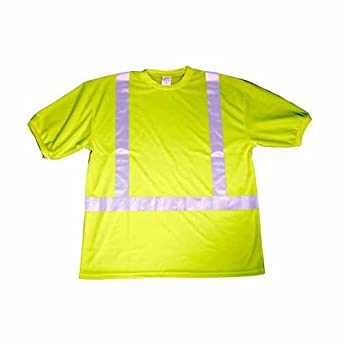 Safety T-Shirt 9485-XLG High Visibility Reflective Stripe Class II Protection X-Large 2 T-shirts per Pack