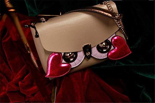 Maska6 sided In Sostituibile Ginny Mano Borsa Accessori Catena Piccola Fashion Pelle jaycel Mucca Originale largebag Design A Donna Messenger Bag Double Civetta sdQthr