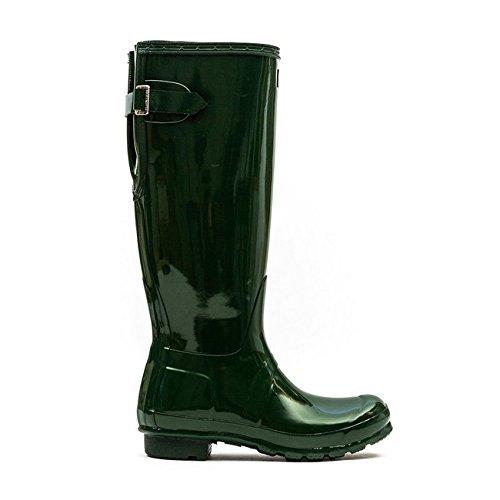 Hunter Boot USA Original Back Adjust Gloss Hunter Green 9 Womens Boots by Hunter