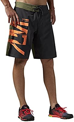 158db443d2 Amazon.com: Reebok Men's Spartan Fan Board Shorts, Coal R, X-Large ...