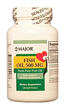 (3 Pack) Major Omega-3 Minis Fish Oil 500mg, 130 Ct (Pack of 3)