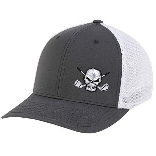 TattooGolf Mesh Trucker Style Golf Hat (Charcoal/White) ()