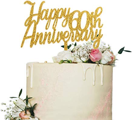 JeremyHar75 - Decoración para Tarta de 60º Aniversario, con ...