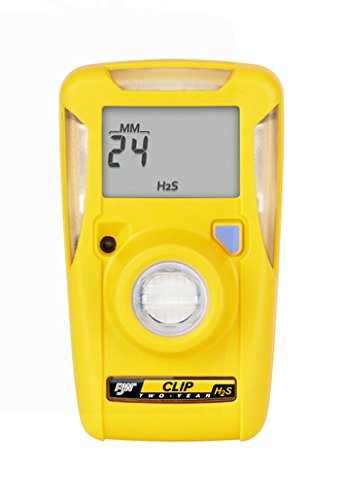 Monitors Sulfide Hydrogen (BW Technologies by Honeywell BW Clip Real Time Portable Hydrogen Sulfide Monitor)