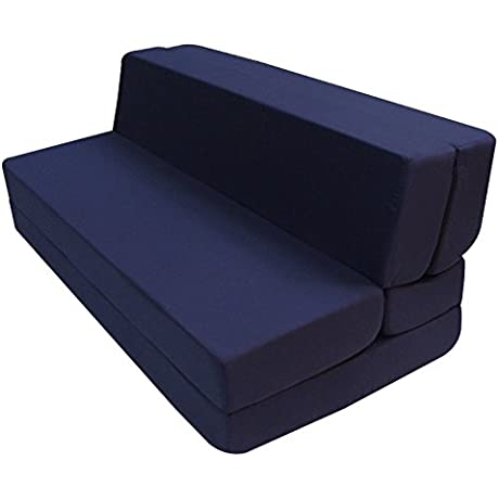 Merax Convertible 5 Folding Foam Sleeping Mattress Sofa Bed And Floor Mat Full LxWxH 74in X54in X5in Navy Blue
