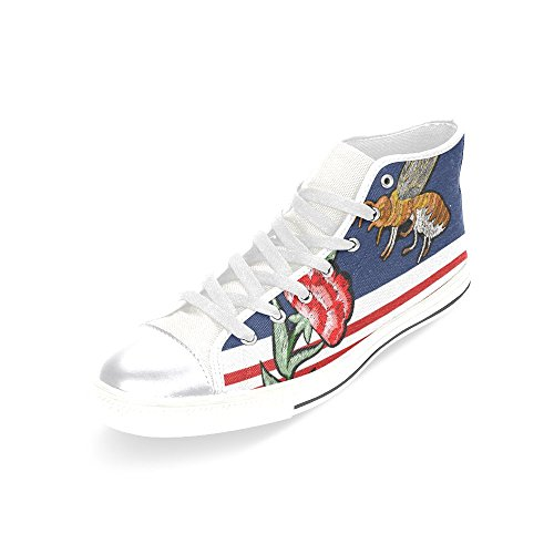 D-story Custom Bijen Dames Klassieke Hoge Top Canvas Schoenen Mode Sneaker Multicoloured3