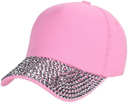 5711aa2794456 Amazon.com  Botrong Womens New Fashion Baseball Cap Rhinestone Paw Shaped  Snapback Hat (Hot Pink)  Arts