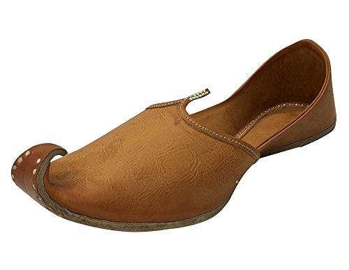 Stap N Style Tan Heren Khussa Schoenen Mojari Etnische Boho Rajasthani Jaipuri Punjabi Jutti