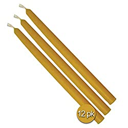 """9"""" Beeswax Taper Candles 12 Pack – Handmade"""