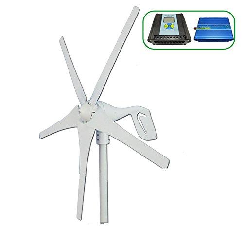 Windkraftanlage mit horizontaler GOWE generator 400w Leistung, 600 W max., (wind-/hybrid-solar inverter controller (600 W, LCD-display)