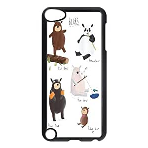 Ipod Touch 5 Cases Cute Bears, Ipod Touch 5 Cases For Boys - [Black] Kweet