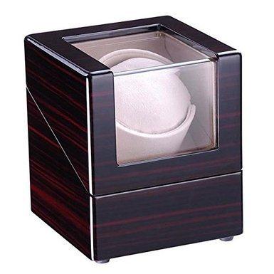 NEW LEAF Single Watch Winder Box Automatic Rotation Storage Wood Case